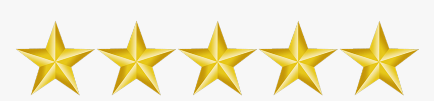 5 Gold Star Png - 5 Star Rating Png, Transparent Png, Free Download