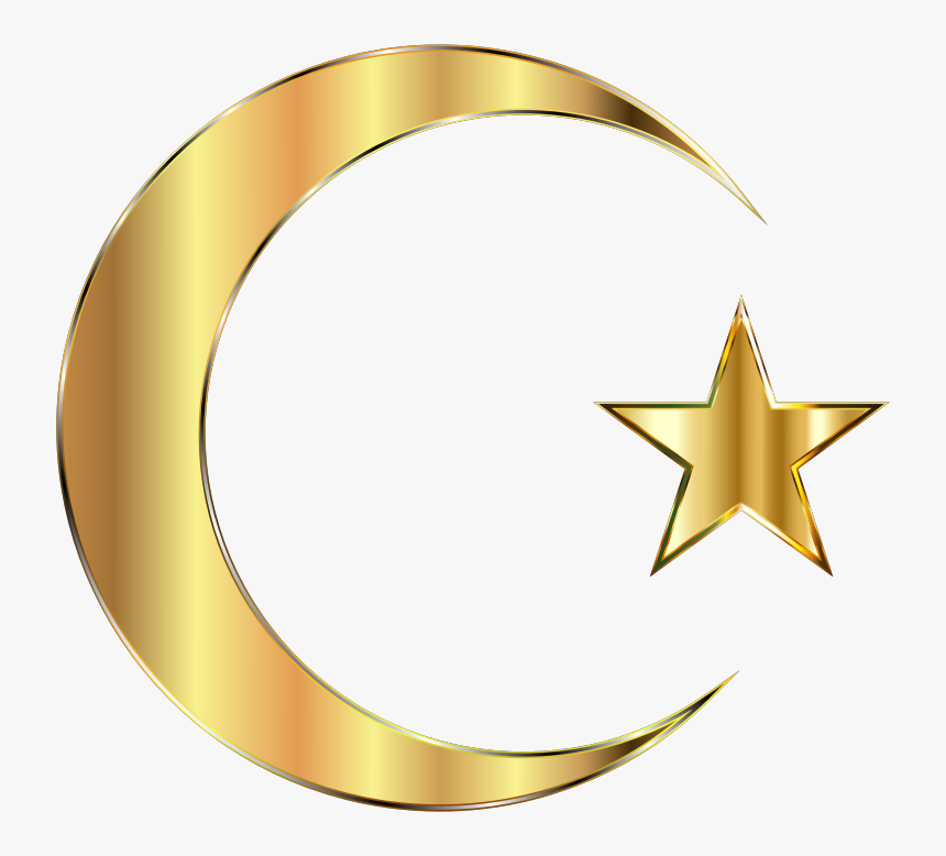 Transparent Gold Star Clipart - Gold Star And Crescent, HD Png Download, Free Download