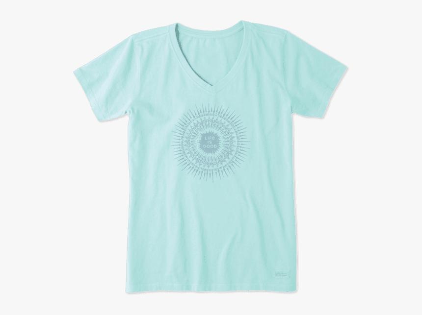 "Women""s Lig Radial Sunburst Crusher Vee - Funny T Shirts, HD Png Download, Free Download"