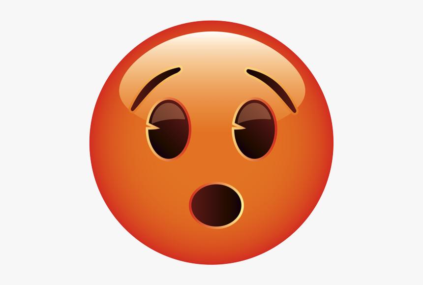 Surprised Face Emoji Orange, HD Png Download, Free Download