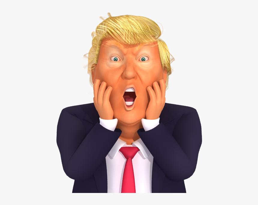 #trumpstickers Chocked Trump 3d Caricature - 3d Cartoon Models Trump, HD Png Download, Free Download