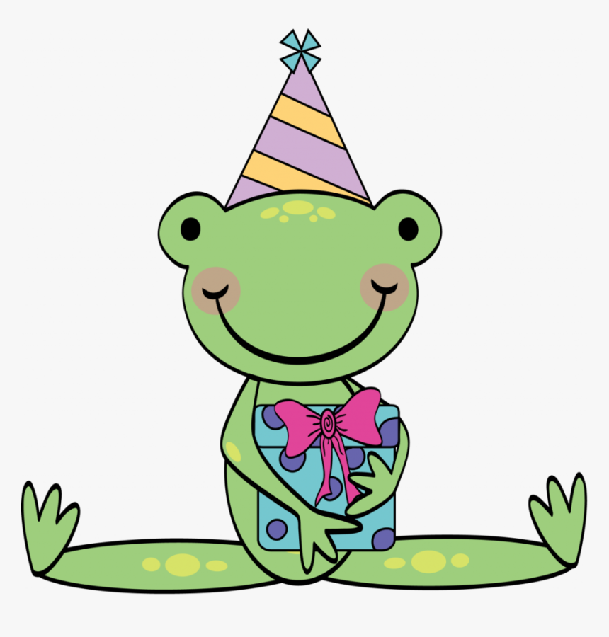 Happy Birthday Frog Png Clipart Frog Birthday Clip - Funny Birthday Images Png, Transparent Png, Free Download