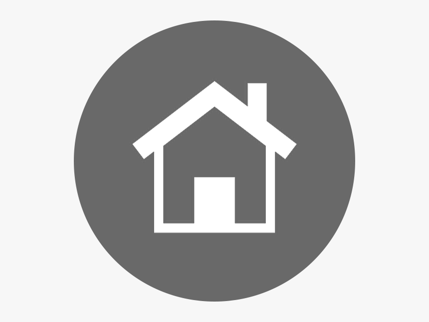 Transparent House Icon Png Home Icon Grey Circle Png Download Kindpng