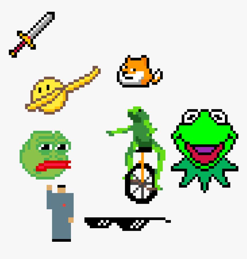 Frogs, Kim Jon Un, Mlg Sunglasses, Sword, Dabbing Emoji - Kermit, HD Png Download, Free Download