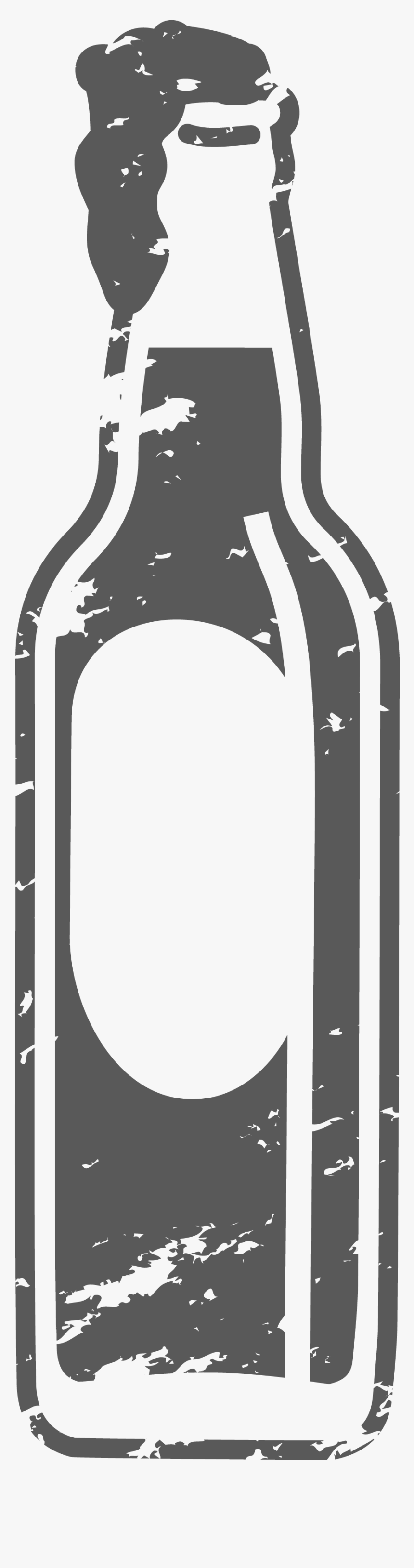 Black And White Beer Bottle Png, Transparent Png, Free Download