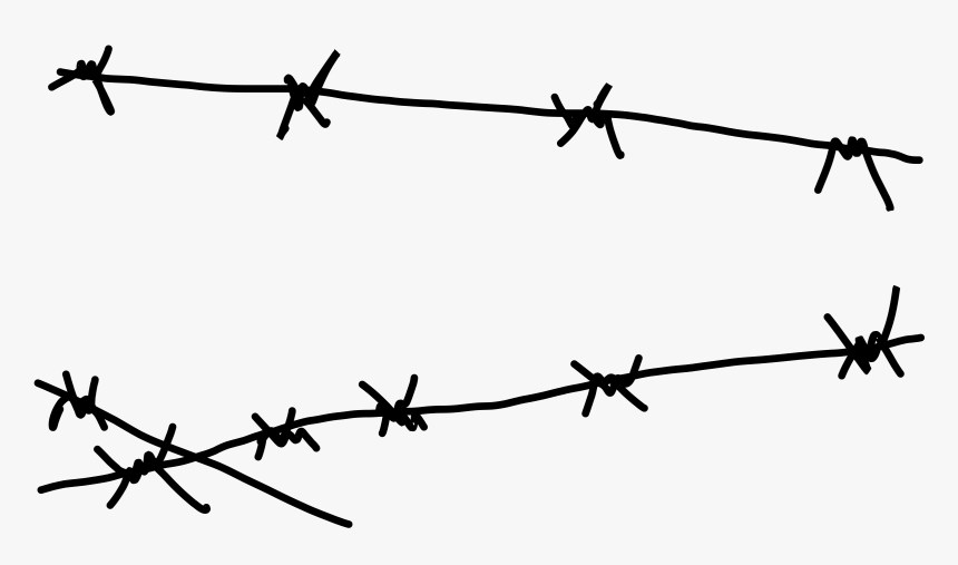 Barbwire Png Image - Easy Barbed Wire Drawing, Transparent Png, Free Download
