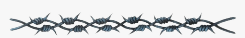 #barbedwire #barbwire #spikes #ouch #goth #divider - Barb Wire Realistic Tattoo, HD Png Download, Free Download