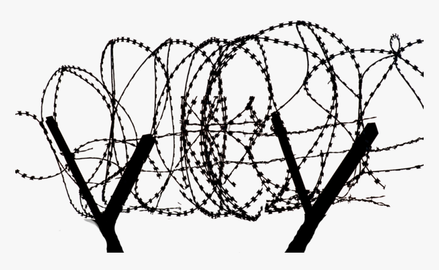 Transparent Barbed Wire Circle Png - Razor Wire Fence Transparent, Png Download, Free Download