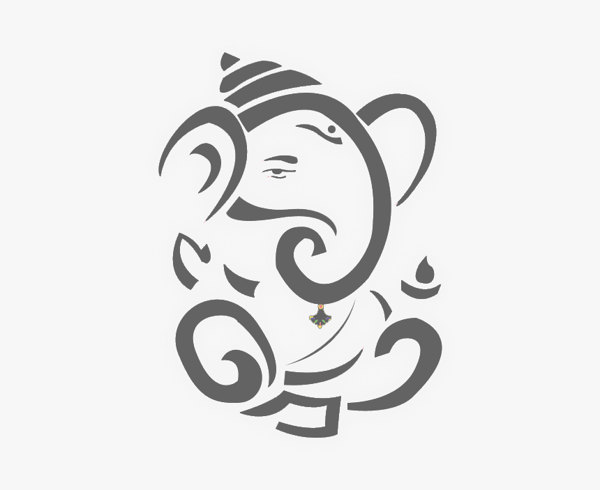 Marriage Clipart Ganesh - Ganesh Black And White, HD Png Download, Free Download
