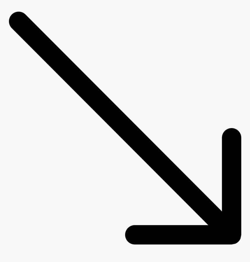 Down Arrow - Arrow Pointing South East, HD Png Download, Free Download