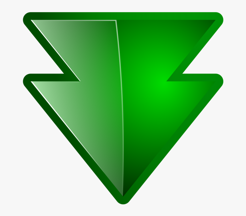Down Arrow Green - Down Double Arrow Green Png, Transparent Png, Free Download