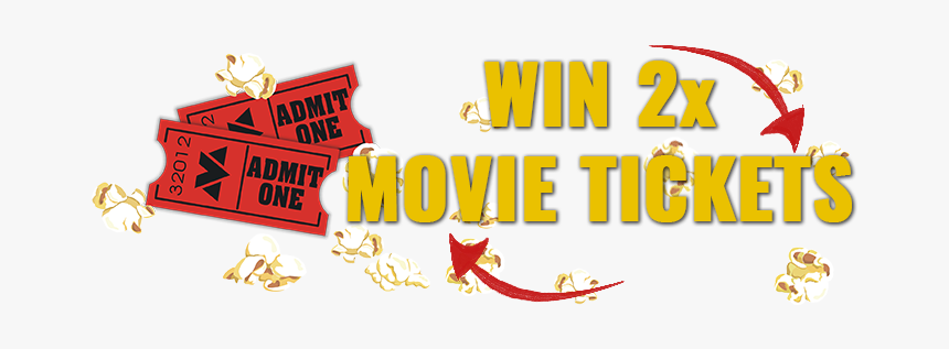Movie Tickets Png - Win Two Movie Tickets, Transparent Png, Free Download