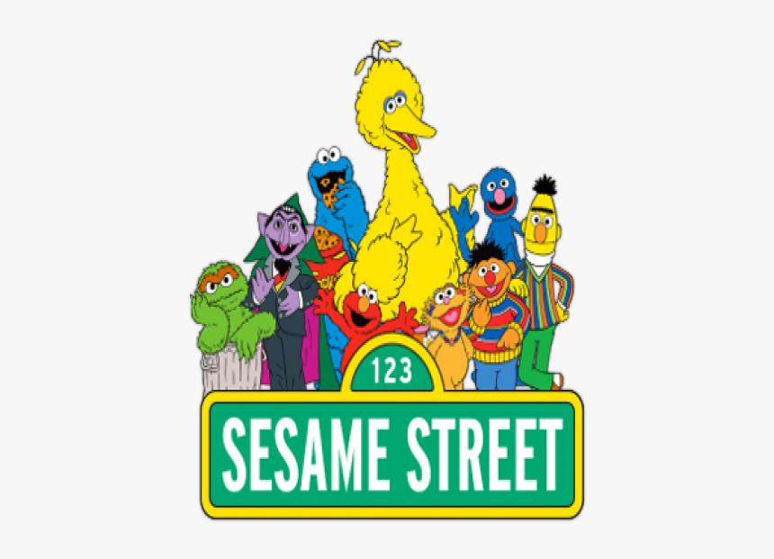 Elmo Big Bird Count Von Count Sesame Street Characters - Transparent Sesame Street Png, Png Download, Free Download