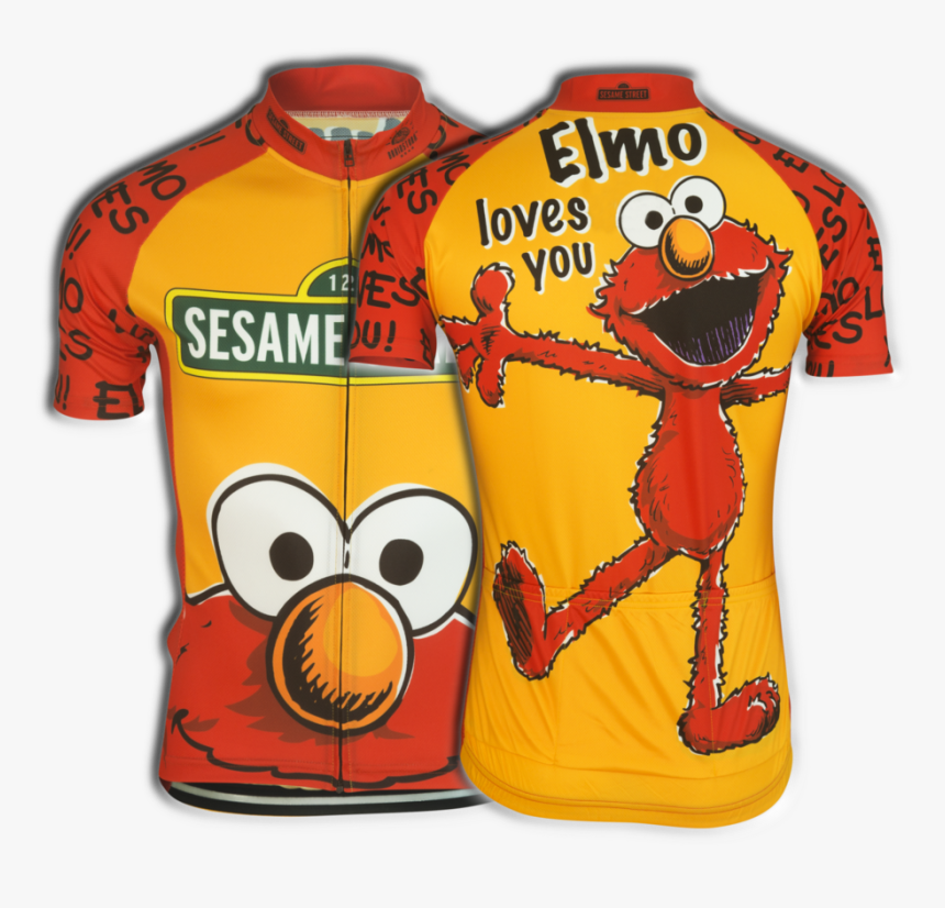 Elmo Cycling Jersey - Sesame Street Cycle Jersey, HD Png Download, Free Download