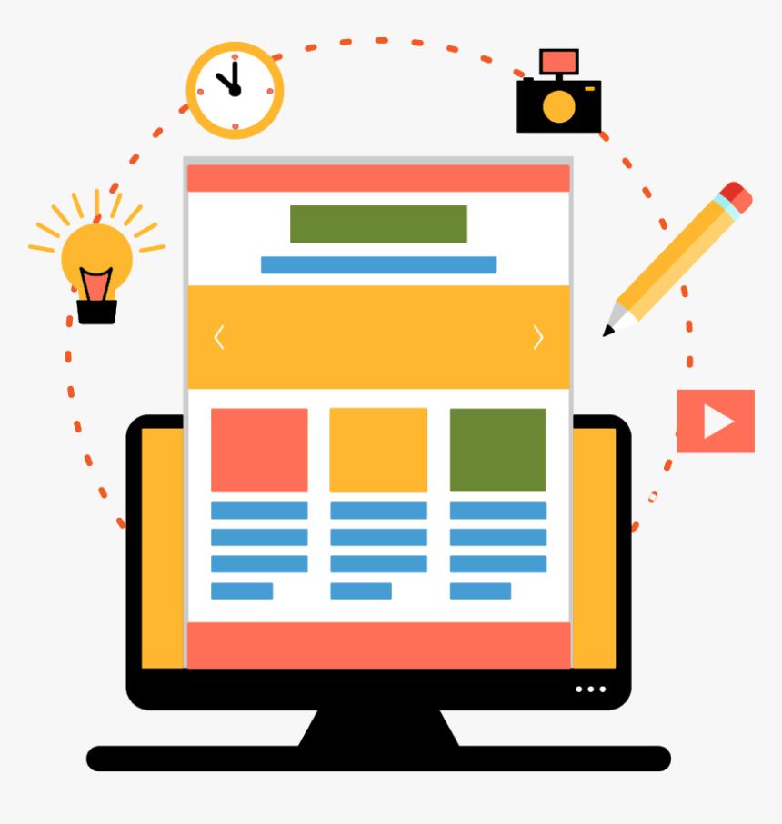 Seo Optimized Web Development - Web Development Flat Png, Transparent Png, Free Download