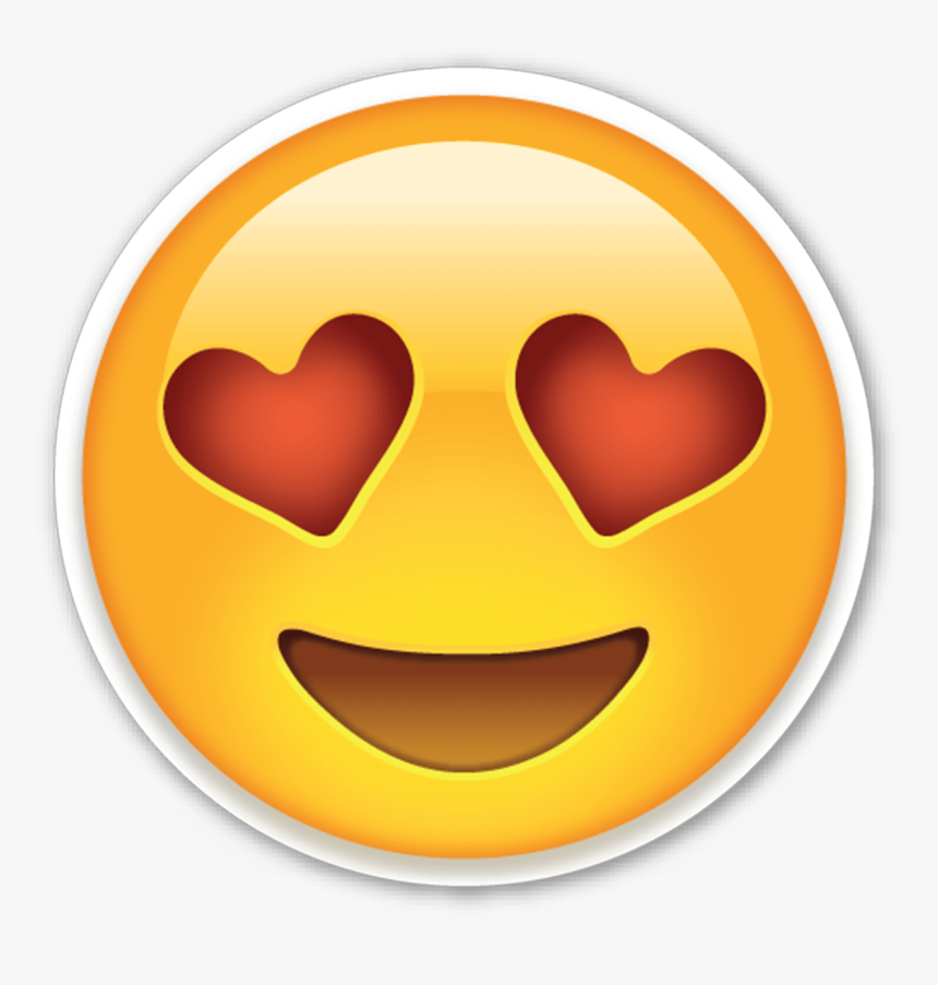 Moaning Emoji Png - Smiling Face With Heart Shaped Eyes Emoji, Transparent Png, Free Download
