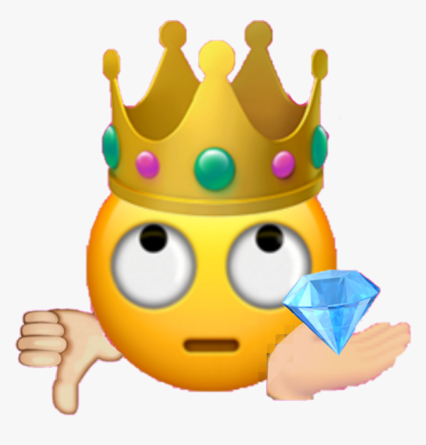 Transparent Crown Emoji Png - Transparent Background Emoji Crown, Png Download, Free Download