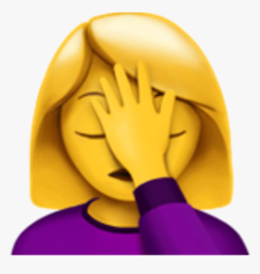 Palm Face Emoji - Woman Facepalming Emoji, HD Png Download, Free Download