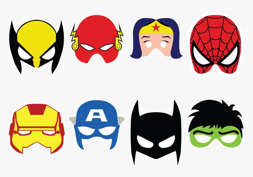 Superhero Batman Flash Iron Hero Batgirl Man Clipart Superheroes Mask Printable Hd Png Download Kindpng