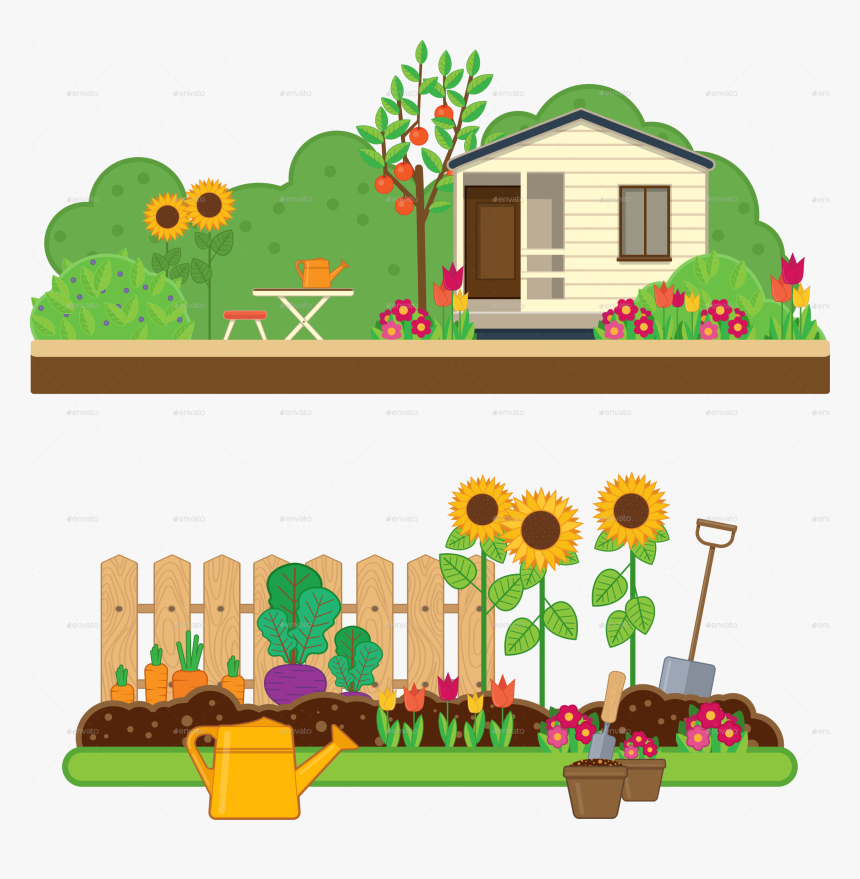 Gardening Set By Sabina House Garden Clipart Hd Png Download Kindpng