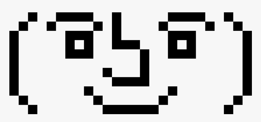 Lenny Face Pixel Art, HD Png Download, Free Download