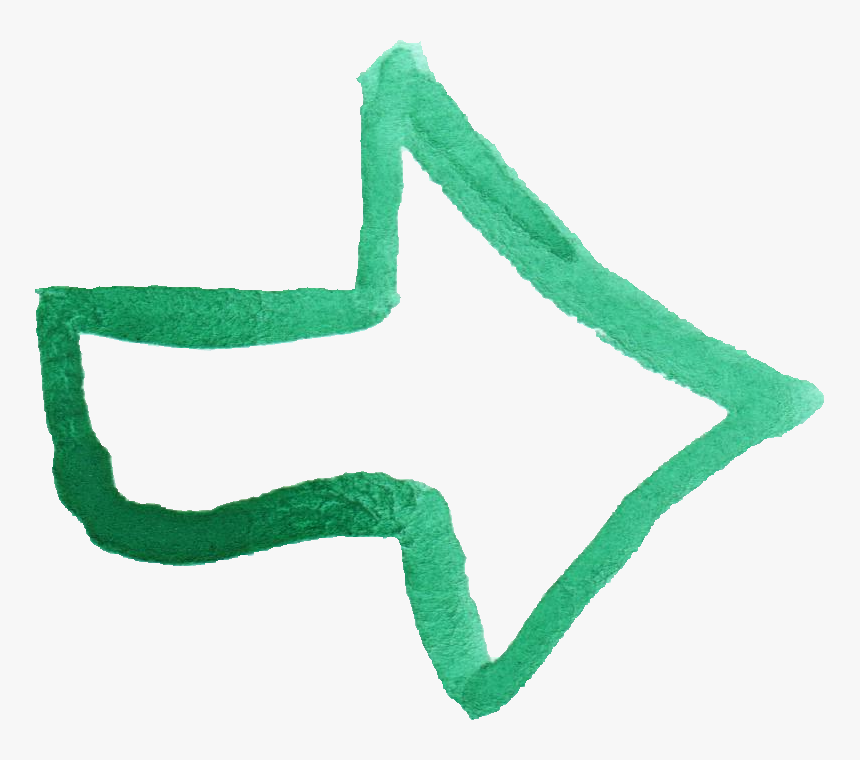 Water Color Arrow Png, Transparent Png, Free Download