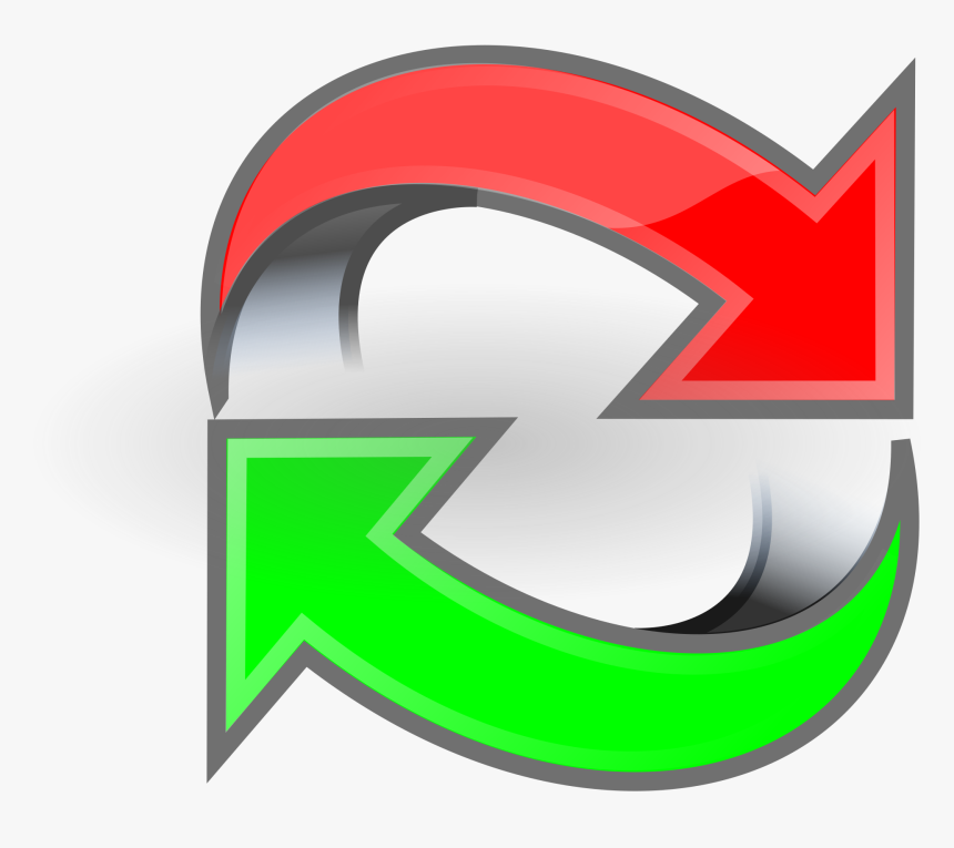 Arrows Green Red Loop Clip Arts - Green And Red Arrows Png, Transparent Png, Free Download