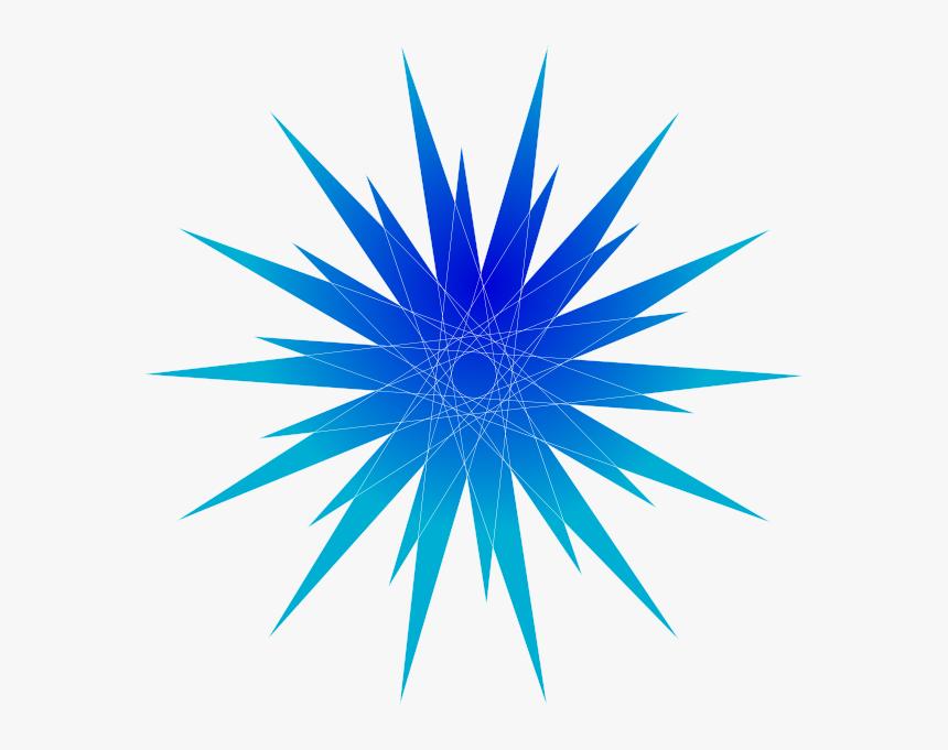 Blue Star Burst Svg Clip Arts - Blue Star Clip Art, HD Png Download, Free Download
