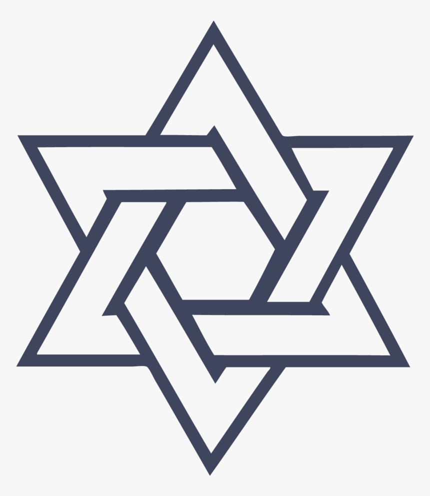 Star Of David Png - Six Point Star Drawing, Transparent Png, Free Download