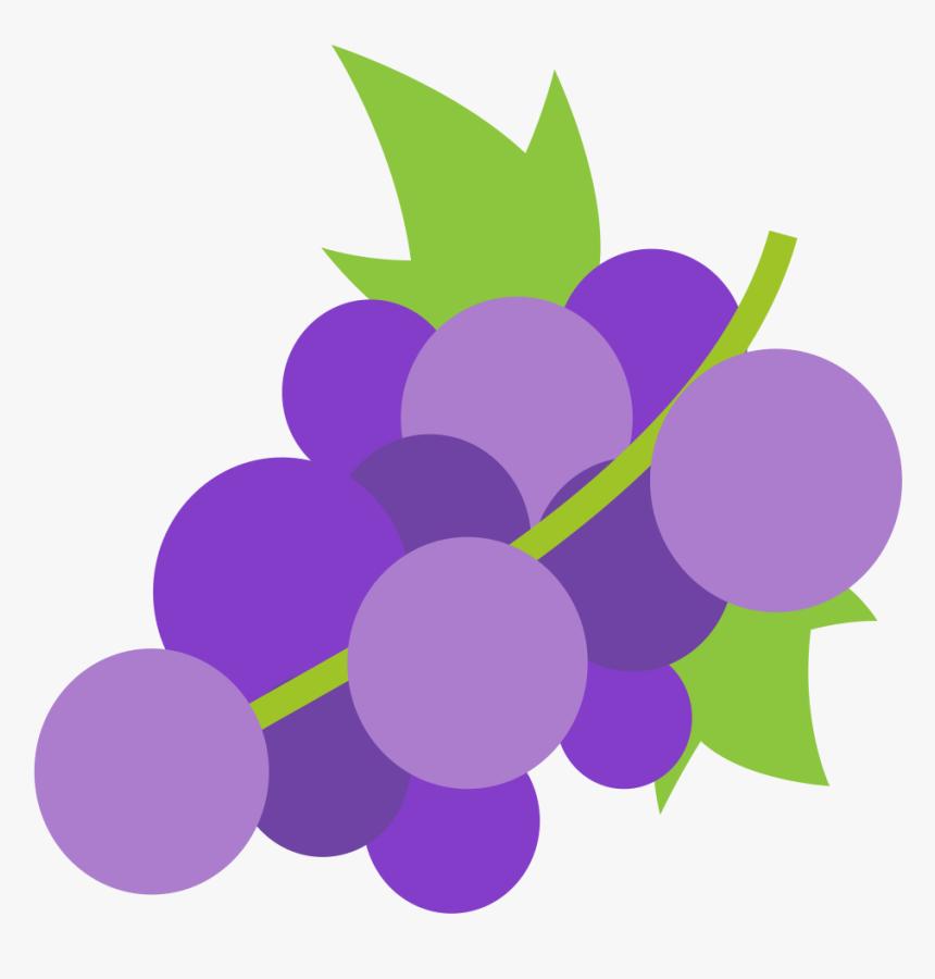 Purple Grapes Cliparts 8, Buy Clip Art - Grape Emoji, HD Png Download, Free Download