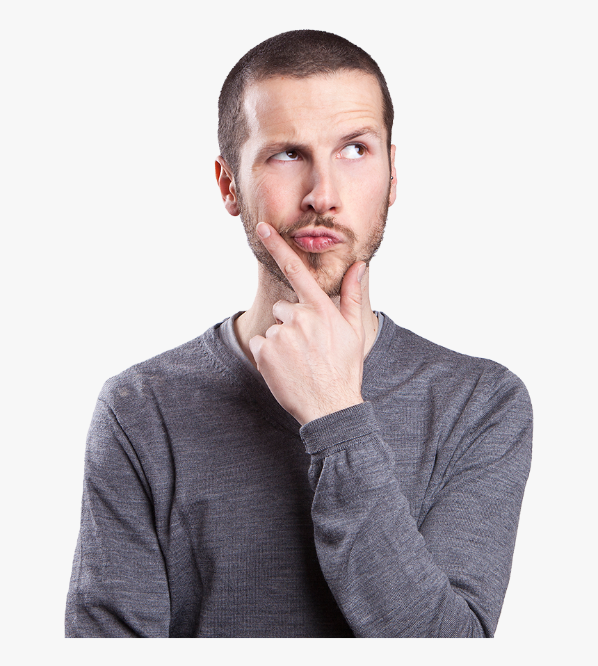 Thinking Guy Png - Guy Thinking Hd, Transparent Png, Free Download