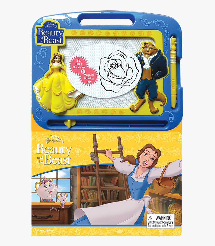 Disney Beauty And Beast Writing Pad With Magnetic Pen, HD Png Download, Free Download