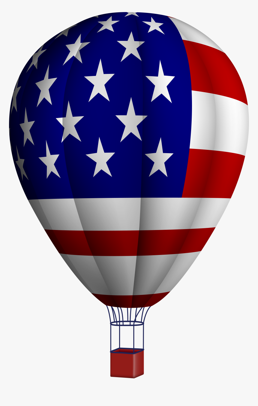 Usa Air Baloon Png Image - Hot Air Balloon Country Flags, Transparent Png, Free Download