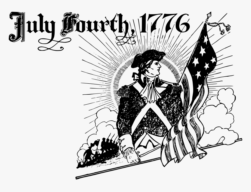 July Fourth 1776 Clip Arts - 4th Of July Clipart Black And White, HD Png Download, Free Download