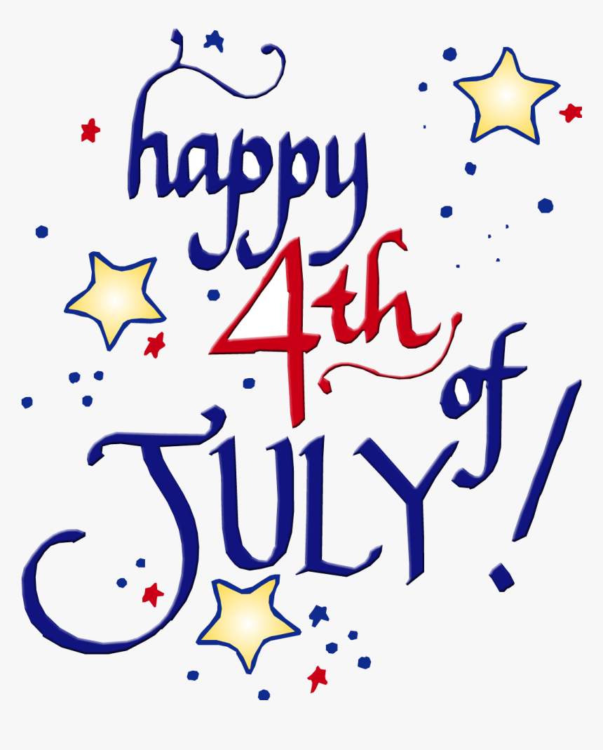 4th Of July Happy Fourth Clipart Transparent Png - Happy 4th Of July Free Clip Art, Png Download, Free Download