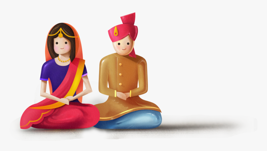 Indian Wedding Logo Png - Indian Wedding Couple Animated, Transparent Png, Free Download