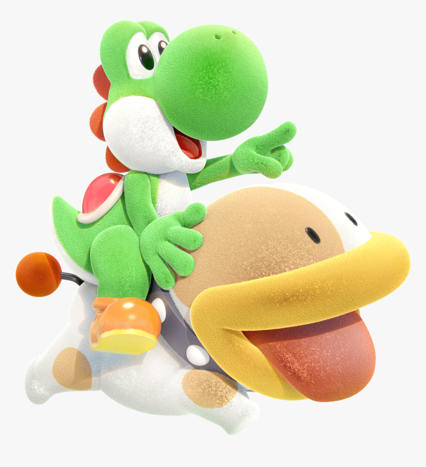 File - Yoshicraftedworld - Yoshiwithpoochy - Poochy Yoshi's Crafted World, HD Png Download, Free Download