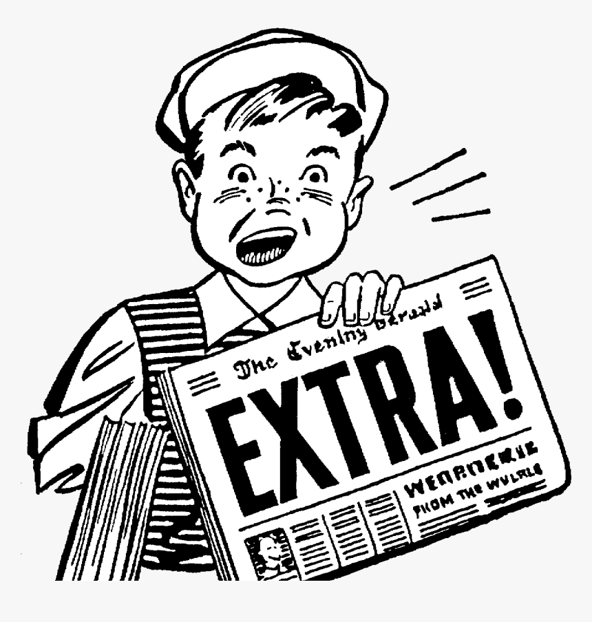 Extra Extra Read All About It Gif, HD Png Download, Free Download