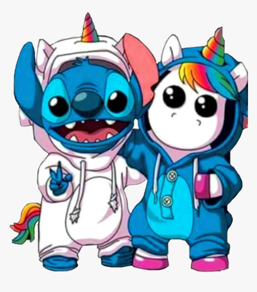 114 1145773 sticker stitch unicorn unicornio rainbow arcoiris kawaii stitch