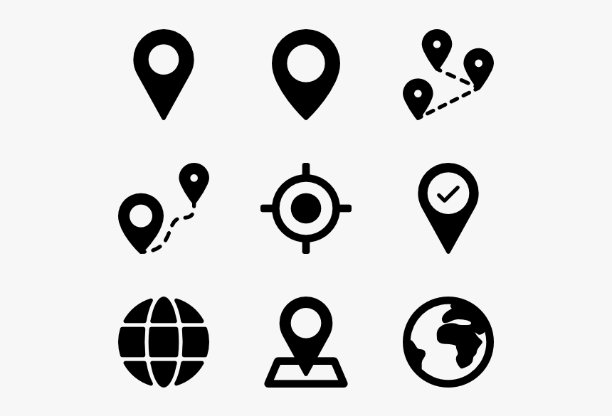 Icon Packs Vector - Location Flat Icon Map, HD Png Download, Free Download