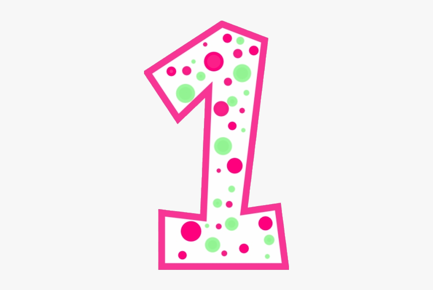 Number 1 With Dots Clipart Cute Free Transparent Png - Polka Dot Number One, Png Download, Free Download