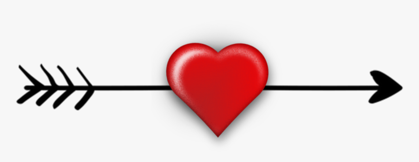 Transparent Flèche Png - Arrow With Heart Clipart, Png Download, Free Download