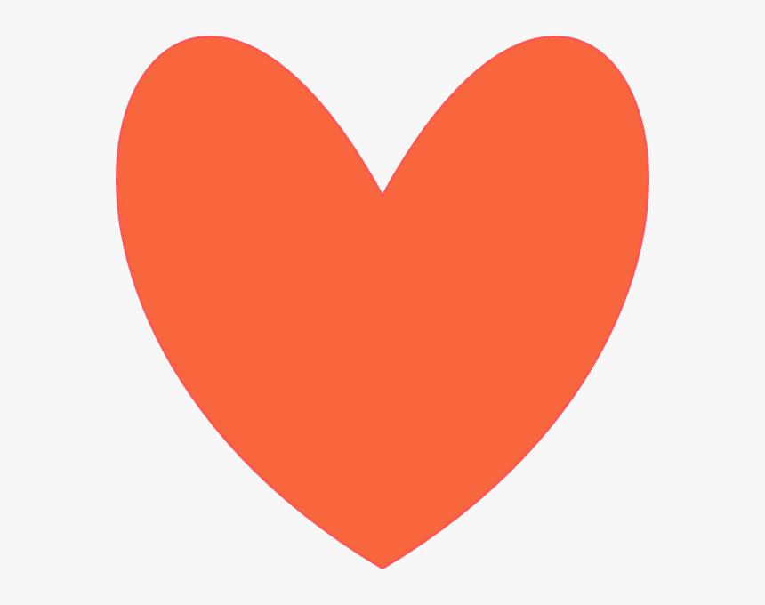Orange Coral Heart Svg Clip Arts - Cute Heart Clip Art, HD Png Download, Free Download