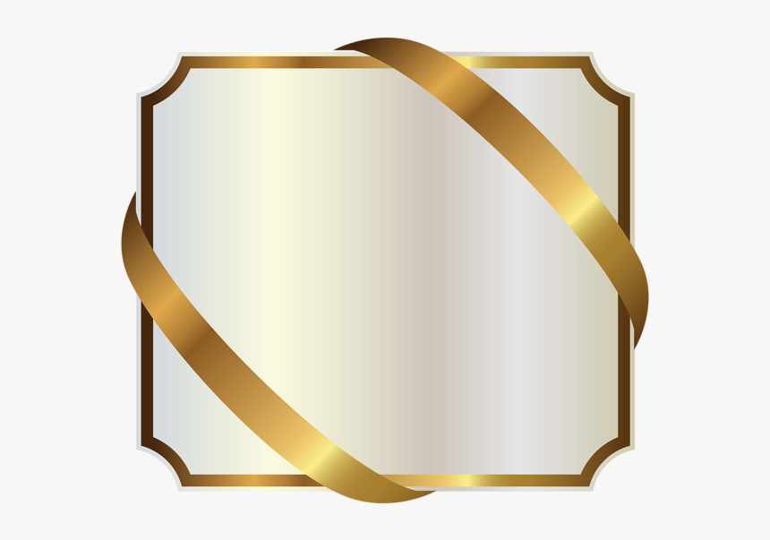 White And Gold Ribbons, HD Png Download, Free Download