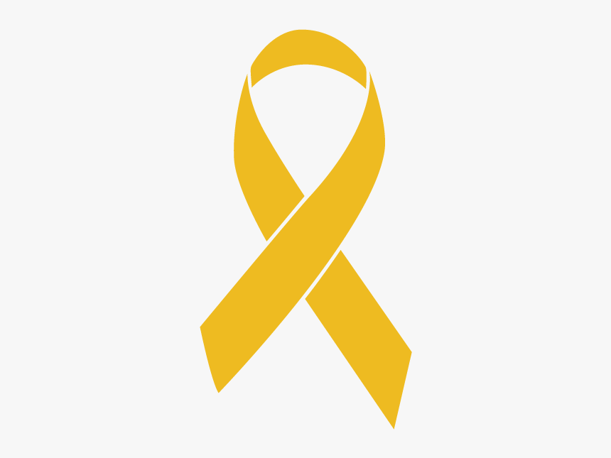 Gold Colored Childhood Cancer Ribbon - Endometrial Cancer Ribbon, HD Png Download, Free Download