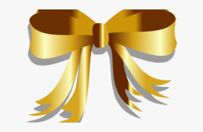 Gold Ribbon Cliparts - Golden Ribbon Gold Png, Transparent Png, Free Download