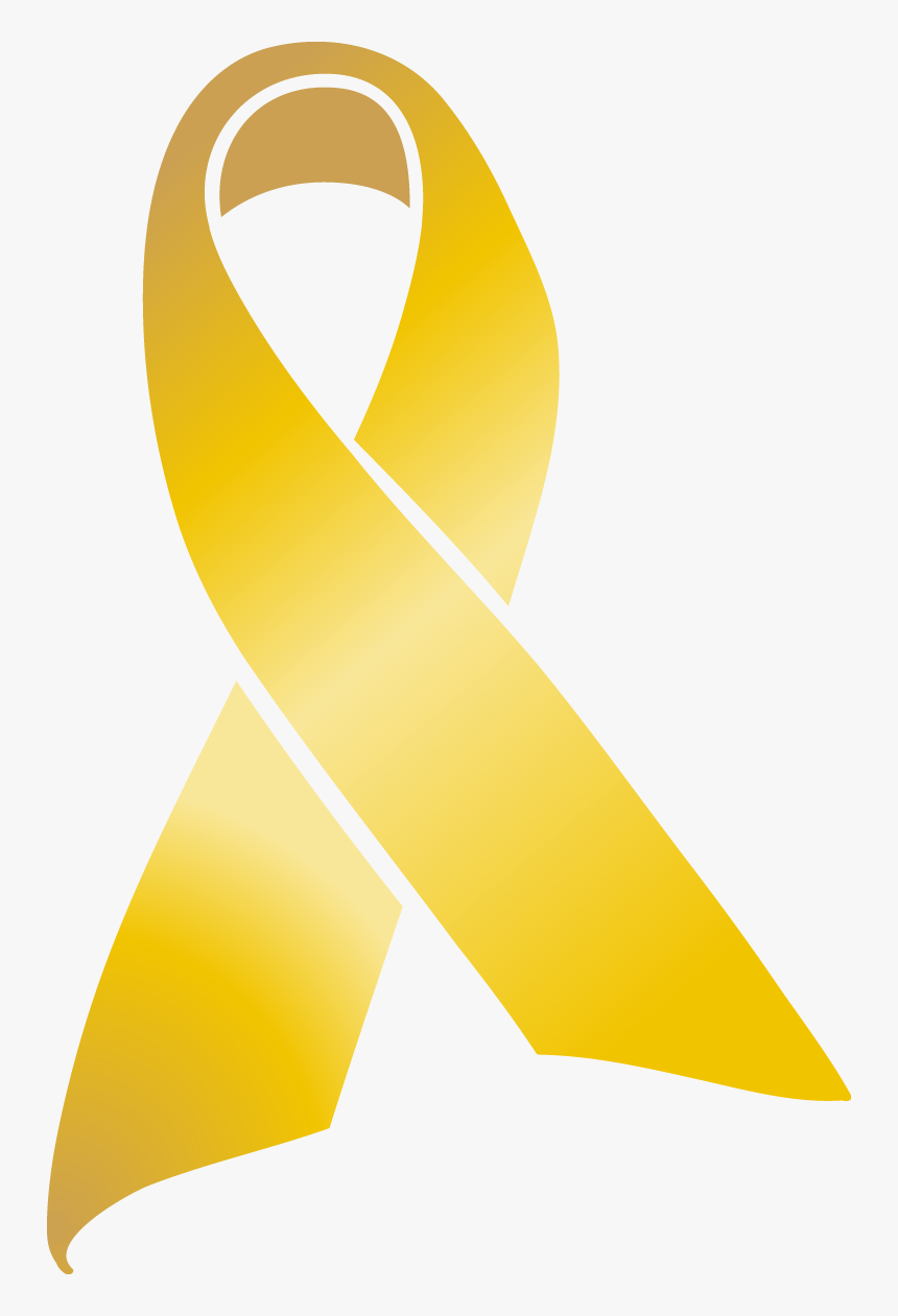 Gold Ribbon - Gold Cancer Ribbon Vector, HD Png Download, Free Download