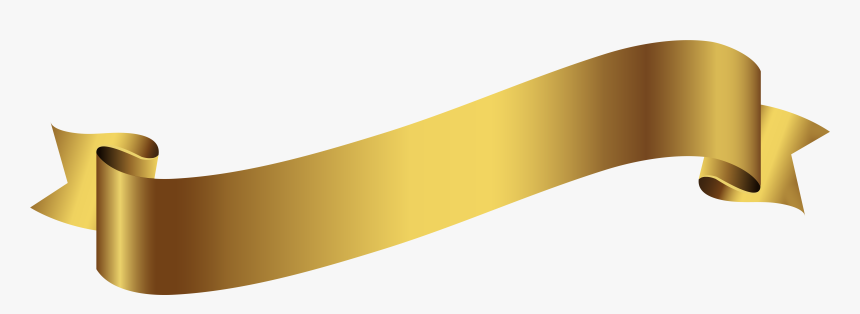 Gold Banner Ribbon Png - Gold Banner Transparent Background, Png Download, Free Download