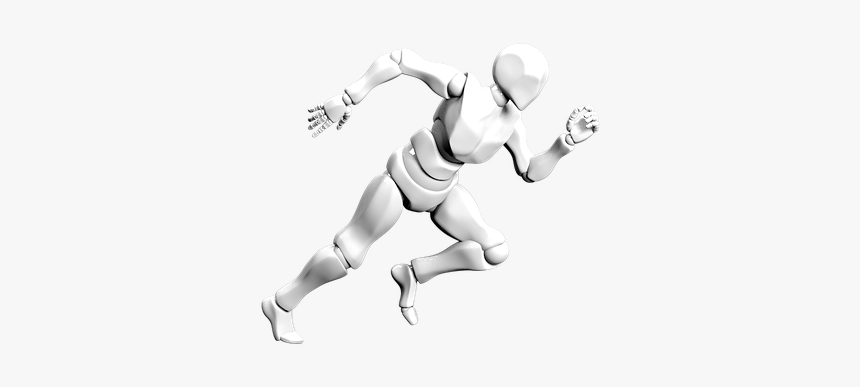 Bot, Droid, Cyborg, Running - Player, HD Png Download, Free Download