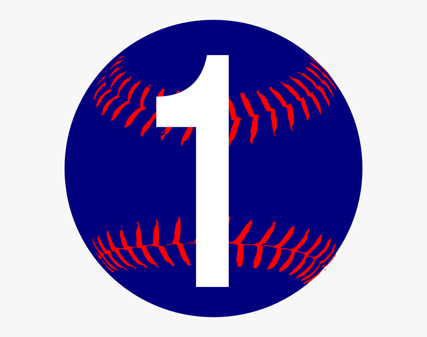 Blue Softball Svg Clip Arts - Circle, HD Png Download, Free Download
